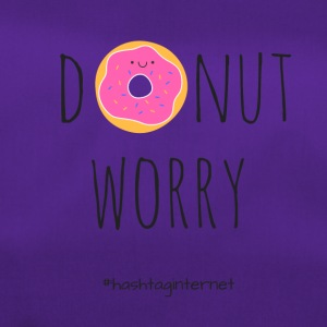 donut worry be happy - Duffel Bag
