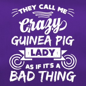 Crazy guinea pig lady funny sayings - Duffel Bag