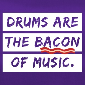 Drummer the Bacon of music cool sayings - Duffel Bag
