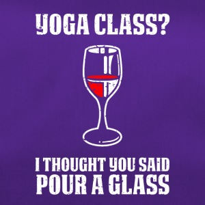 Yoga or wine funny sayings - Duffel Bag