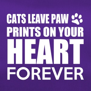 Cats leave paw prints on your heart forever - Sporttasche