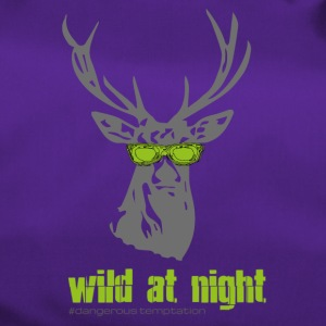 "Deer with sunglasses ""wild at night"" - Duffel Bag"