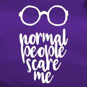 Normal people scare me - white - Duffel Bag