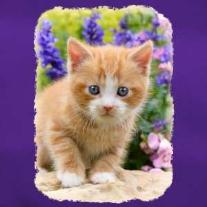 Cute dear kitten in flowering garden - Duffel Bag