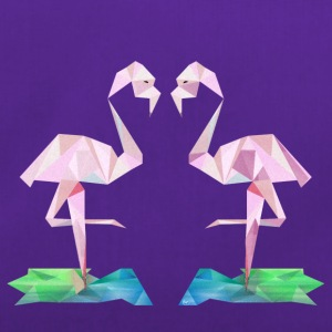 Low-poly Flamingos - Sportväska