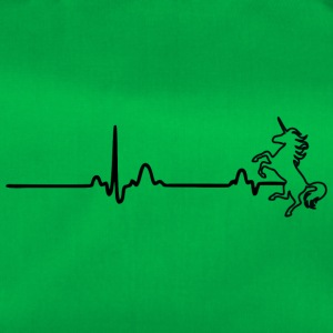 EKG HEART LINE UNICORN sort - Sportstaske
