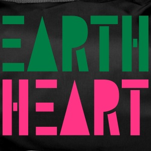 Earth Heart in Geometric Shapes, - Duffel Bag