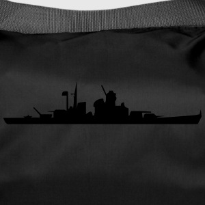 Vector Navy warship Silhouette - Duffel Bag