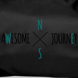 Awesome Journey - Travel (biltur) T-shirt - Sportstaske