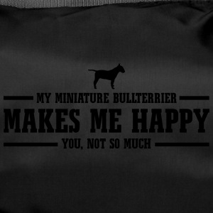 MINIATURE BULLTERRIER makes me happy - Sporttasche