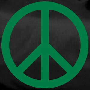 Peace Sign Filled Green - Sporttasche