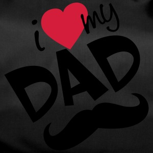 I love my dad (vector) your color - Duffel Bag