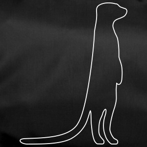 Meerkat outline - Duffel Bag