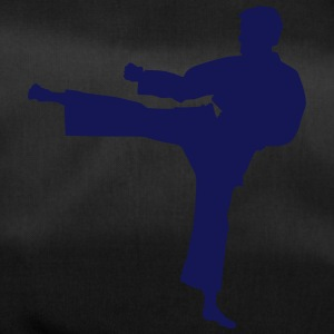 Karate fighter silhouette 7 - Duffel Bag