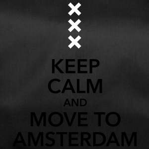 keep calm move to Amsterdam Holland Kreuz Cross - Sporttasche