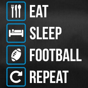 Eat Sleep Football americano Repeat - Borsa sportiva