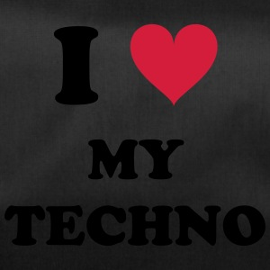 I LOVE MY TECHNO - Sporttasche