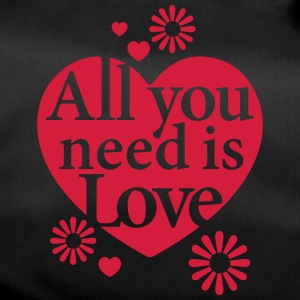 All you need is Love Heart Herz Blume Flower hygge - Sporttasche