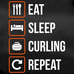 Eat Sleep Curling herhalen - Sporttas