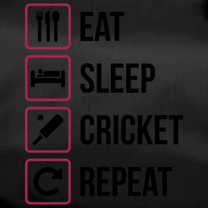 Eat Sleep Cricket herhalen - Sporttas