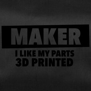 maker - i like my parts 3d printed - Duffel Bag