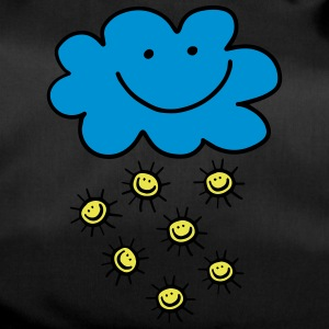 Funny cloud with sun, summer, spring, weather - Duffel Bag
