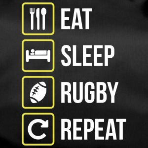 Eat Sleep Rugby Repeat - Sporttasche