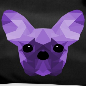 French Bulldog Low Poly Design lilac - Sporttasche