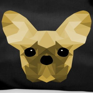 French Bulldog giallo Low Poly design - Borsa sportiva
