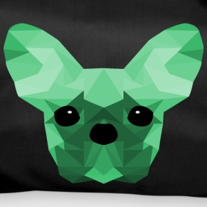 French Bulldog turchese Low Poly design - Borsa sportiva