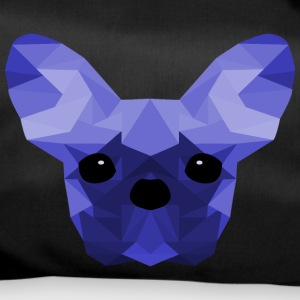 Fransk Bulldog Low Poly Design blå - Sportstaske