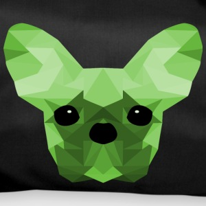 French Bulldog verde Low Poly design - Borsa sportiva