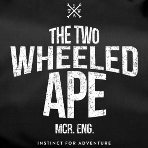 Two Wheeled Ape Logotype Biker T shirt - Duffel Bag