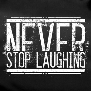 Never Stop Laughing Old White 001 round ontwerpen - Sporttas
