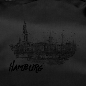 Hamburg city sketch - Duffel Bag