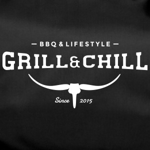 BBQ and Chill / BBQ and Lifestyle logo 2 - Duffel Bag