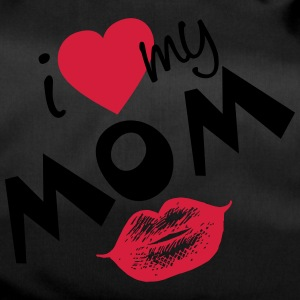 I love my Mom (vector) your Color - Duffel Bag