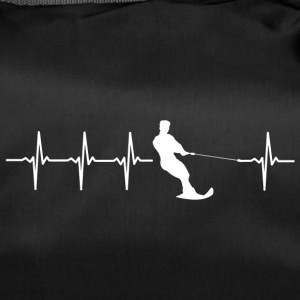 Water skiing, heartbeat design - Duffel Bag