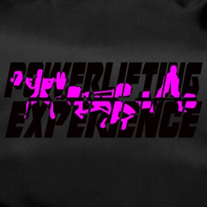 powerlifting EXPERIENCE black and purple - Duffel Bag
