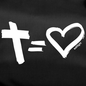 Cross = Heart WHITE // Cross = Liefde WHITE - Sporttas
