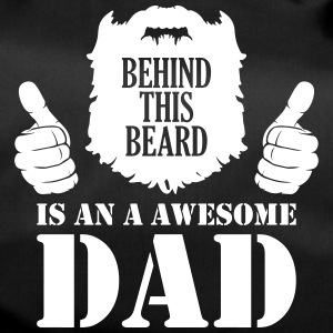 Mens Behind This beard is on Awesome Dad - beard - Duffel Bag