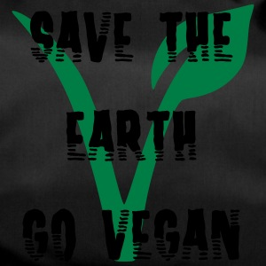 Save the earth go vegan - Sporttasche