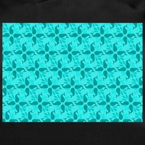 Have a whale of a time pattern turquoise 01 - Duffel Bag
