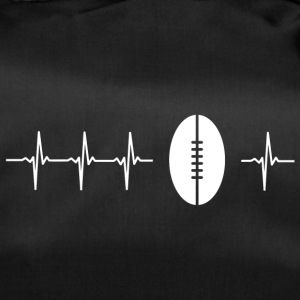 J'aime le rugby (rugby heartbeat) - Sac de sport