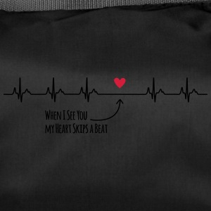 When I see you my heart skips a beat - Sporttasche