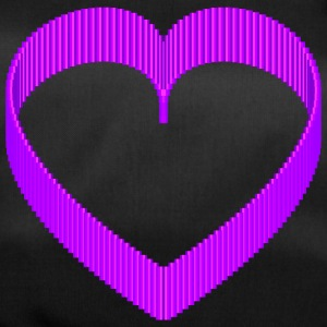 Pixel 3D Purple Heart rond design - Sporttas