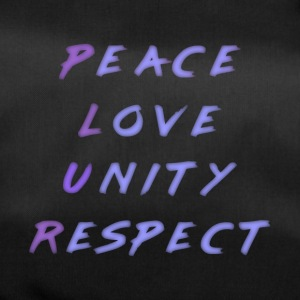 Peace Love Unity Respect P.L.U.R. blue purple - Duffel Bag
