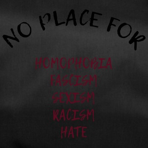 NO PLACE FOR RACISM - Sporttasche