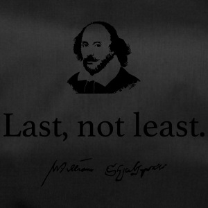 Shakespeare: Last but not least .... - Sac de sport