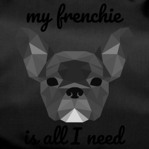 Low Poly Frenchie grey - Sporttasche